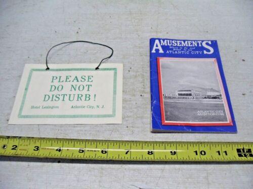 Atlantic City NJ 1960 Amusements and Activity Guide & Hotel Lexington Room Sign