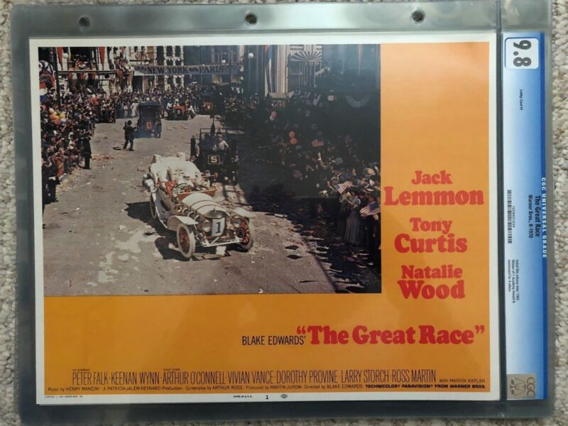 THE GREAT RACE LOBBY CARDS SET OF 8 TONY CURTIS AND NATALIE WOOD