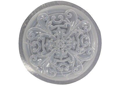 Round Roman Swirl Stepping Stone Plaster or Concrete Mold 7066 -