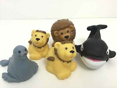 Fisher Price Zoo Talkers Lot Of 5 Lion Cubs Seal Killer Whale