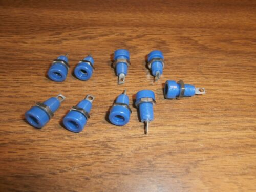 Lot/9 Vtg HH Smith 1508 Blue Banana Panel Mount Jack,NOS