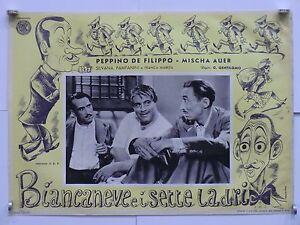 2) BIANCANEVE E I SETTE LADRI di G. Gentilomo fotobusta originale 1949 - Italia - L'oggetto può essere restituito - Italia