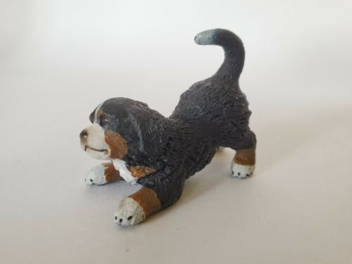 SCHLEICH 16398 Bernese Mountain Dog Puppy Playing - Canine