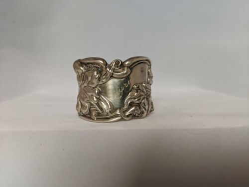 """Antique Art Nouveau Frank M. Whiting Lily Sterling Silver Napkin Ring """"Myra"""""""