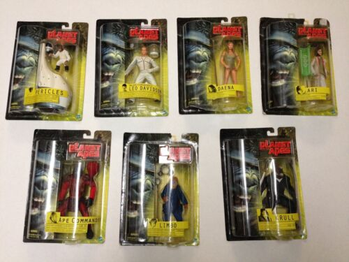 LOT OF 7 🦍> 2001< MOVIE HASBRO > PLANET OF THE APES< ACTION FIGURE COLLECTION