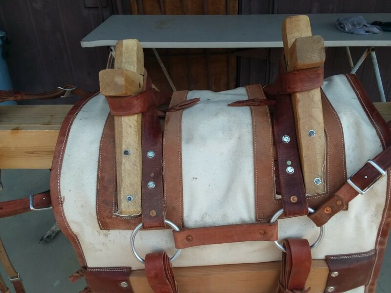 Horse and Mule Packing/Camping Equipment Decker Style pack Saddle, horse tack