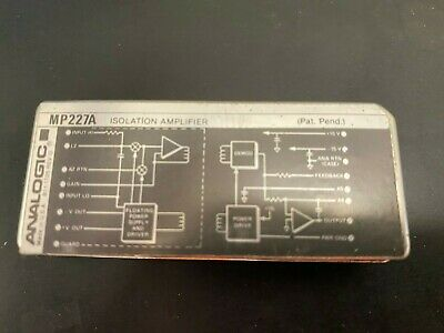 Mp227a Isolation Amplifier Module