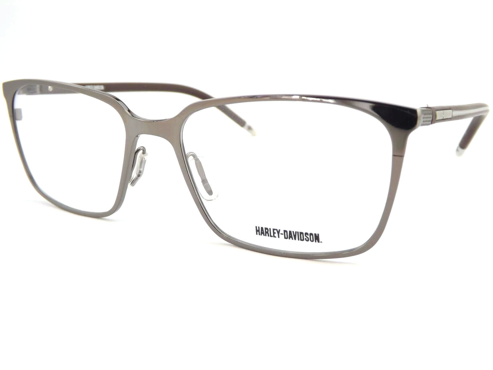 f44c8277e34e HARLEY DAVIDSON Optical Glasses Spectacle RX Frame Silver   Brown ...