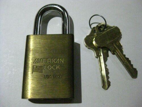 American Padlock 3600 w/ Schlage Everest C123 Cylinder & 2 Keys. Made in USA.