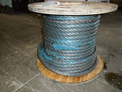 78 X 125 Iwrc Wire Rope Cable Spool 6x36 W Spelter Crane Cable Rigging