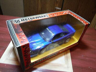 2003 Motorworks Die Cast 1:24 Collection Blue Saleen SR New in Original Box