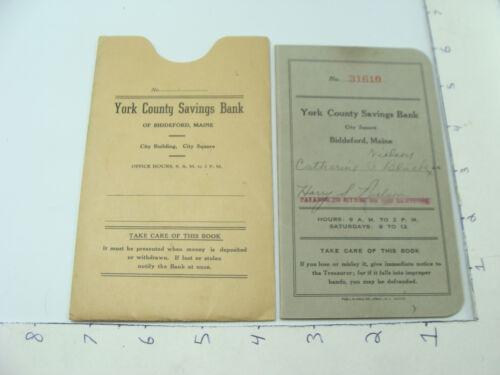 vintage Original YORK COUNTY SAVINGS BANK - BIDDEFORD MAINE - BANK BOOK 1929-36