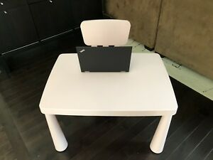 Children's Pink Table and Chair