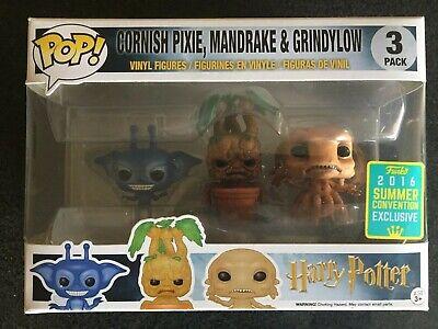 Funko POP! Harry Potter: Cornish Pixie + Mandragora + Grindylow Exclusivo