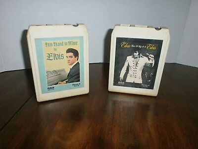 "2 ELVIS PRESLEY 8 Track Tapes-""That's The Way It Is""&""His Hand in Mine"" MINT"