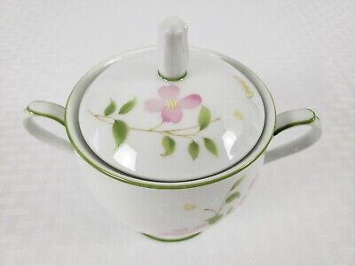 Noritake First Blush #2605 Sugar Bowl With Lid White Pink & Yellow Flowers