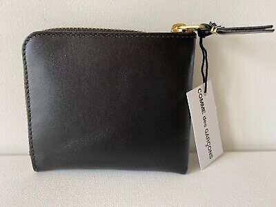 Comme Des Garçons Leather Wallet Model SA3100 in Black BNIB $99 -33% OFF