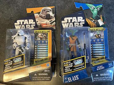 Star Wars Saga Spacetrooper & Clone Wars El-Les 2011 MOSC