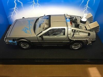 Christopher Lloyd Signed Diecast Delorean Car Back To The Future 1 18 Jsa Nib