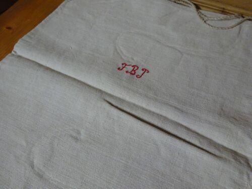Antique European Feed Sack GRAIN SACK FBJ Monogram # 10119