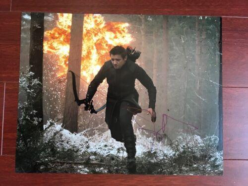 Avengers Jeremy Renner Autographed Signed 11x14 Photo COA