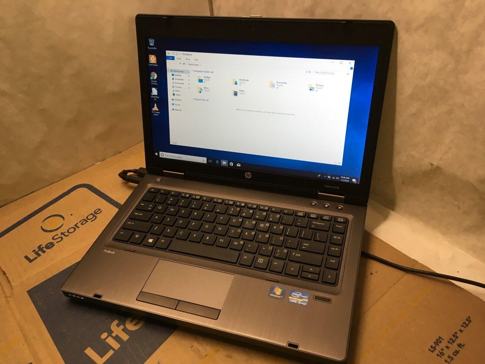 $179.00 - HP ProBook 6470B Laptop / 3rd Gen i5 2.5GHZ / 4GB / 250GB / Windows 10 / Webcam