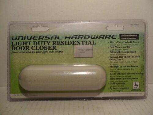 Universal Hardware Light Duty Residential Door Closer White #4011 Brand New!