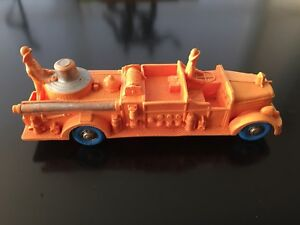 "'59 Tomte Lardal fire truck vintage rubber toy. Collection. 10""."