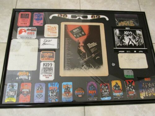 KISS SIGNED LOT HISTORY  ACE FREHLEY-  PETER CRISS-  GENE SIMMONS- STANLEY- RARE