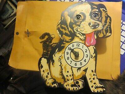 Vintage Helmut Kammerer German Dog Clock with moving eyes cuckoo style clock
