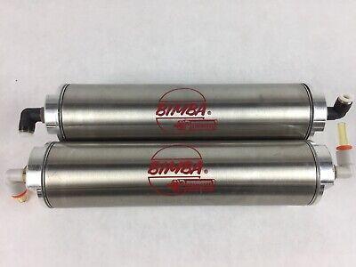 Bimba D-2485-a-6 Stainless Steal Air Reservoir Cylinder - Lot Of 2