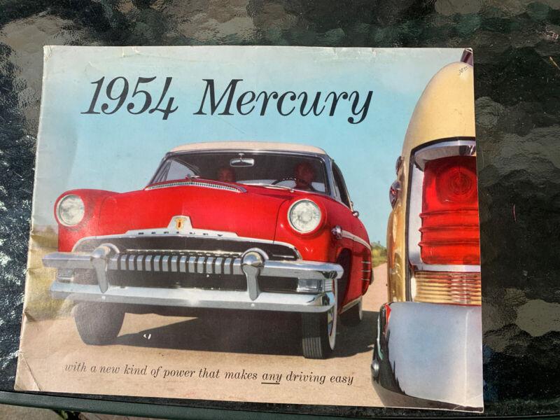 Original 1954 Mercury Full Line Deluxe Large Sales Brochure Monterey Custom