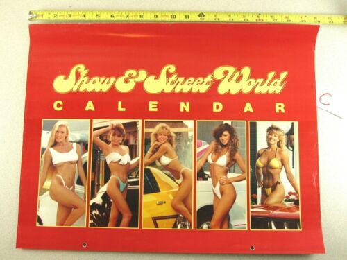 1989 Calendar ISCA SHOW & STREET WORLD Hot Rod Car Sexy Girl KC WINKLER Signed C