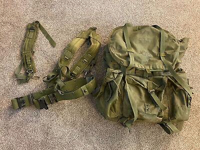 1990s USMC Scout Sniper Green Nylon Rucksack Backpack w/ Deuce Gear Alice Frame