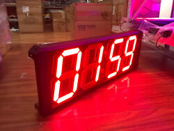 8 Large Indoor Digital Factory Wall Clock Multifunctional Led School Clock