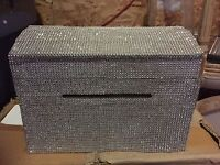 Rhinestone card box for sign in table
