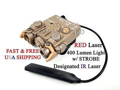 WADSN airsoft PEQ DBAL-A2 Red//Green laser sight NO IR NO White strobe light