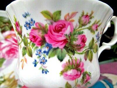ROYAL ALBERT TEA CUP AND SAUCER MOSS ROSE PATTERN PINK ROSE TEACUP