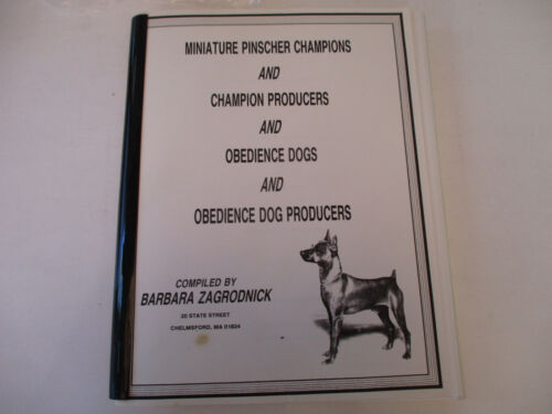 Miniature Pinscher Champions Producers Obedience Pet Dog Resource Listing