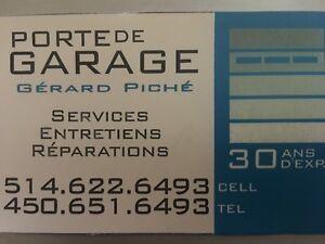 Service  Entretien Reparation  portes de garage