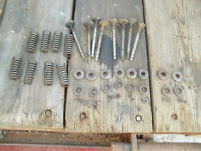 Farmall Sc Tractor Ih Engine Motor Cylinder Head Valves Springs Keepers