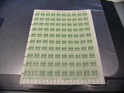 INFLA 301 A BOGEN 800 TAUSEND AUF 5 PFENNIG B10972