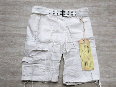 NEW Da Nang Women's Summer Shorts Belted Front Pockets WHITE HPG2100 X-SMALL XS for sale  Los Angeles