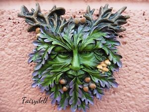 'AUTUMN'S REFLECTION' Green Man Wall Plaque ~ Man Of The Forest ~ Wood Sprite