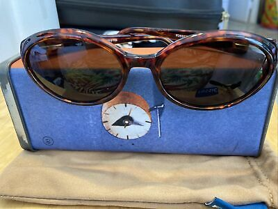 Fossil Tortoise Brown Kim PS 3093 Sunglasses With Tin Box Bag Cover