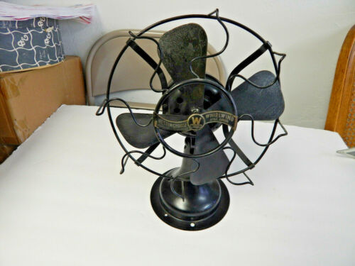 Antique Early Electric 1917 Westinghouse Whirlwind Table Fan  Style 280598