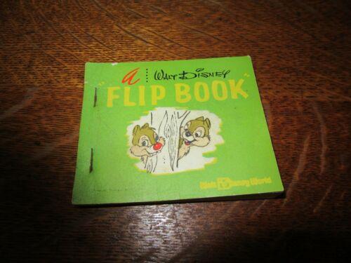 Vintage Walt Disney World Flip Book-Chip & Dale-RARE