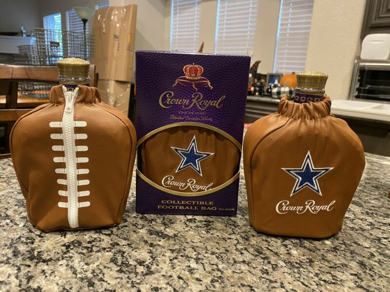 Dallas Cowboys Crown Royal Football Bag and Box