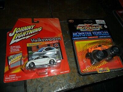2 LOT Johnny Lightning BASEBALL Volkswagen & MOTORMAX MONSTER ORANGE BUG BOMB