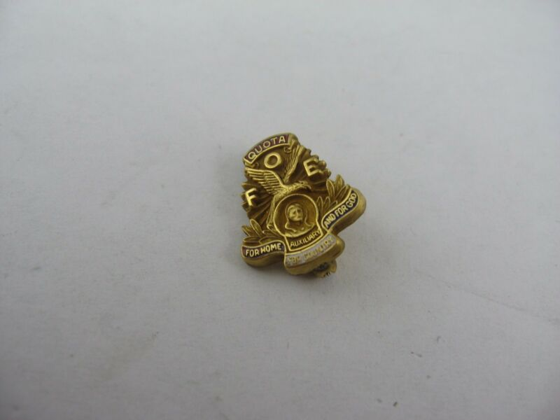 Gorgeous Vintage FOE Fraternal Order of Eagles QUOTA Pin